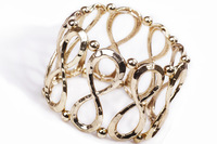 Wholesales Christmas gift for women gold plated Vintage Stretch Alloy Bracelets Infintiy bracelets