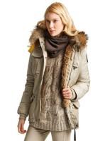 New Denali Women Masterpiece Sand Beige Down Parkas Jacket Short Female Winter Real Fur Hooded Puffer Coat Outerwear Kodiak 803