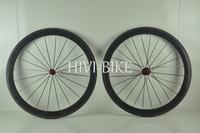 High Performance 700c carbon fiber 50mm clincher/tubular road bike wheelset, Chosen hub V brake Free 1 Year Warranty