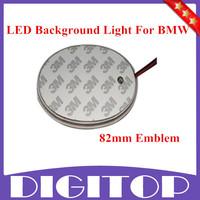 82mm Brilliant Red Emblem LED Background Light For BMW 3 5 7 Series X3 X5 X6