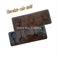 1 Piece5 dandelion flower shaped lollipop silicone mold, cake baking, DIY making fun, quality bakeware quality, free shipping