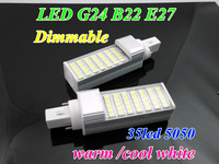 Lowest price Dimmable 12W G24 E27 B22 LED Corn Bulb Lamp 35smd 5050 180 Degree For Home Lighting decor Warm/Cool white