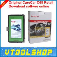 2014 Super Original CareCar C68 Retail DIY Professional Auto Diagnostic Tool Care Car C68 Auto Scanner with DHL Free Shipping