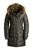 Warm Women Winter Fur Hooded Quality Coat 2014 New Brand Fashion Green High Fill Power HARRASEEKET Parkas Long Duck Down Jackets
