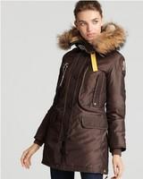 On Sale Woman Long Article Kodiak Masterpiece Brown Down Parka Winter Women Coat Raccoon Fur Hooded Jacket GOBI Denali Bear 921