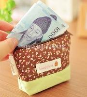Wholesale Women & Kids Childrens Bags Floral Print Mini Zipper Coin Purses Classic Wallets Handbag Wholesale DHL/EMS Free 300PCS