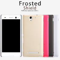 Case For SONY Xperia C3 S55T top quality NILLKIN super frosted shield hard back case with screen protector