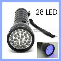 Blacklight Invisible Ink Marker 28 LED UV Ultra Violet Flashlight Torch Light