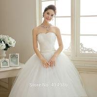 HOT Free shipping new 2014 white princess fashionable lace wedding dress romantic tulle wedding dresses HS103