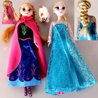 3PCS/SET Clearance Sale 50% Offer Frozen Elsa Anna Princess Doll.Frozen Olaf Toys Without Original Box Opp Bag