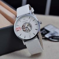 SKONE simple Roman scale personalized leather strap couple watch quartz watch