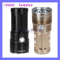 Water-Resistant & Super Bright  7 x Cree XM-L T6 LED Torch Flashlight 10000 Lumens