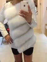 2014 New Fashion Women Round Neck Long Sleeve Faux Fox Fur Coat Autumn /Winter Warm Padded Coat Jacket Black White parka