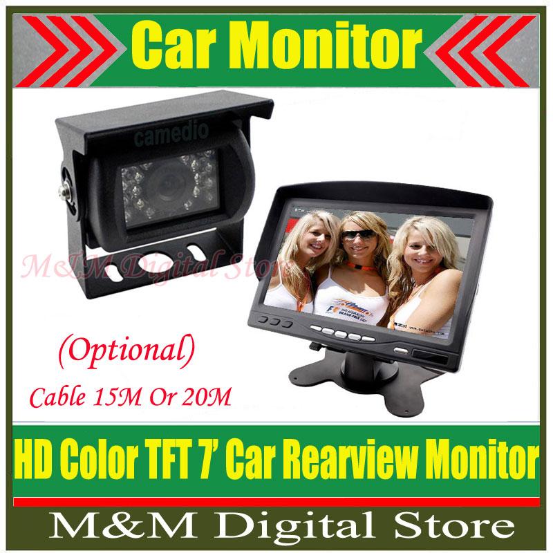 """18 IR Reverse Camera +NEW 7"""" LCD Monitor+Car Rear View Kit car camera BUS And Truck parking sensor MM(China (Mainland))"""