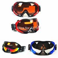 2014 Winter New  Ski Eyewear Double Layer Anti-fog Skiing Mirror Uisex Anti-UV400  Skiing Goggles 3Colors Frame