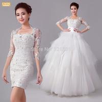 lace wedding dress Dress neat, short lace dress new winter 2014 bride sexy wedding dresses vestido de renda 551