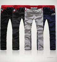 Plus Size M-3XL Casual Cotton Mens Sport Pants Long Men Black Pants