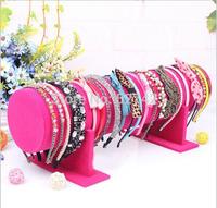 11 * 50cm  Velvet Hair Band Headband Holder Retail Shop Display Stand Rack Holder