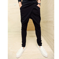 hip hop pants  harem pants male low-rise pants hanging crotch  trousers personality Men trousers Pantalones Free shipping