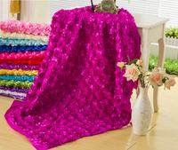 Three-dimensional 3d rose flower wedding carpet cloth table cloth cutout formal dress wedding dress fabric
