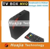 Original MXQ Amlogic S805 Quad Core XBMC TV Box  Android 4.4 OS H.265 Support Wifi LAN Miracast Airplay 1G RAM 8G ROM DLNA