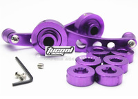 2 Pieces Aluminum Back Replacement Vehicle Auto SUV Truck Car Window Handle Winder Crank Riser Kit Universal Fit Purple