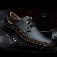 Men's casual business dress / British heavy-bottomed dermis men's shoes