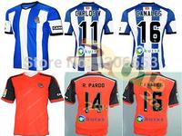 2014/15 Thailand quality Real Sociedad home blue white away Orange La Liga Men soccer jerseys Football Futbol Kit Just shirt