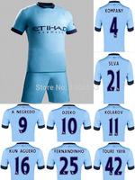 Free shipping! 14/15 Premier League jerseys Kuhn, Tuleiyaya kids jersey. Top quality 2015 Aguero soccer jersey
