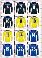 New Fashion Youth Thailand Fabregas Ramires Oscar Diego Costa Willian Hazard Blue Kids Soccer Jersey 14/15 Long Sleeve Jerseys