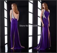 Sexy Backless Women's Clothing Cheap Dress Sequined with Crystal Vestido De Festa Evening Dress Vestido De Noiva