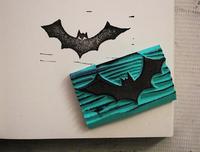 Custom Bat rubber stamp logo +1pcs inkpad for card wedding /carimbo personalizado/Card/Decoration/shop chapter,Customized