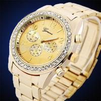 Hot sale! 1pc Fashion High Grade Stainless Steel Dress Quartz Unisex Women's Ladies' Bracelet Wrist Watches G26
