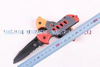 UTS orange handle  half tooth bladeUtility Pocket Folding Knife Survival Camping Knife Outdoor Tools Hunting Survival knives