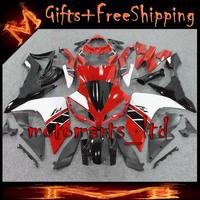 * YZFR1 2007 2008 red white black ABS Plastic Fairing  Set Fit For yamaha YZF R1 2007 2008 YZF-R1 2007 2008  E05 W2