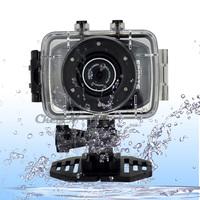 Portable 720P HD Camera ,Waterproof Helmet Bike Sport Digital Camcorder Action Cameras Diving Video Recorder Mini DV 0.3-DVR35H