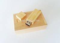 Wooden USB Stick real capacity 2GB 4GB 8GB 16GB 32GB + Presentation Gift Box - Flash Memory Drive Thumb Pen  drive usb 10pcs/lot
