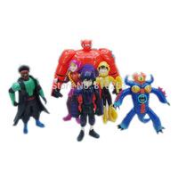 Wholesale 5sets/lot (6pcs/set) Newest Marvel Movie Big Hero 6 Toys PVC Action Figure Toy for Collection