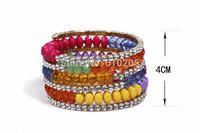 Wholesales Multi-layer Stretch  Crsytal Bracelets for women