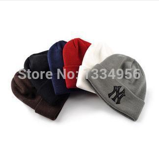 2014 New Casual Autumn Winter men Cap Hat Knitted cotton hat Girls Boys beanie hats for women skullies Hip-hop sleeve head cap(China (Mainland))