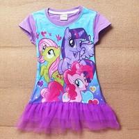 3-10let my little pony kids children girls dress new my little pony dress girls summer dress girls dresses free shipping