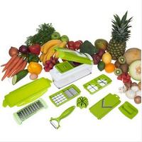 Free shipping,2014 hot sale  12 Pcs Multifunction  Vegetable Fruit Peeler Cutter Multi Chopper Slicer