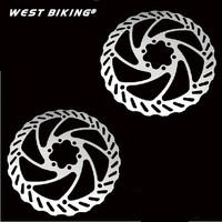 "2 Pcs HS1 Bicycle Brake Disc Brake Rotors MTB Bike Brake pad 160mm 6"" With 6 Bolts BB5/BB7 System Disc Rotors"