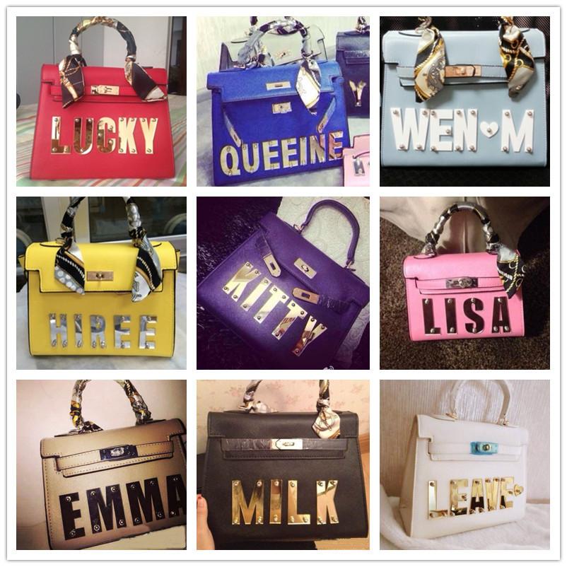 haute couture spoof luxury Handbag Ladies kelli name bag custom made Leather PU Tote Shoulder Bags Women Mini Famous Brands(China (Mainland))