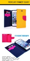 2014 Original Mercury Brand PU Leather Phone cases For iPhone 6 plus 5.5 inch,With Screen protector Free shipping