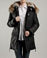 Hot Sale Woman Long Article Kodiak Masterpiece Black Down Parka Winter Women Coat Fur Hooded Jacket GOBI Denali Long Bear 921