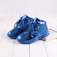 2014 Winter children fashion leather bling sneakers boys basketball shoes kids running shoes skateboarding shoes DZ40