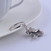 cute cartoon aircraft keyring metal plane keychain key holder