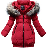 Child down coat child slim medium-long female child down coat winter outerwear thermal