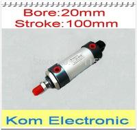 "MAL 20 X 100 Bore 20mm Stroke 100mm Aluminium Alloy Mini Cylinder , 20-100 MM , 1/8"" Port ,Double Action Single Rod"
